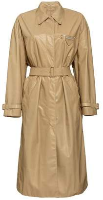 Prada Leather Trench Coat