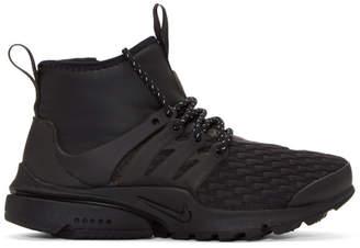 Nike Black Air Presto Mid Utility Premium Sneakers