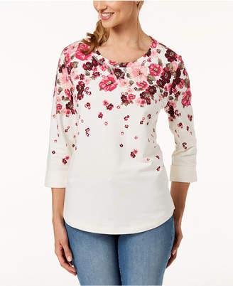 Karen Scott Plus Size Floral-Print Top