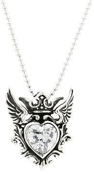 King Baby Studio Winged CZ Heart Pendant
