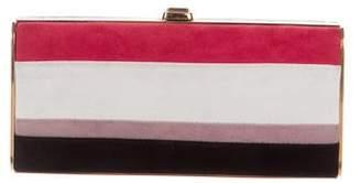 Miu Miu Suede Striped Box Clutch