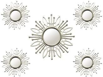 Stratton Home Champagne Burst Wall Mirror - Set of 5