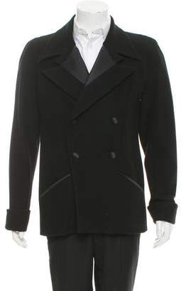 Chanel Silk Double-Breasted Peacoat