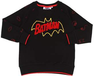 Batman Print Cotton Jersey Sweatshirt