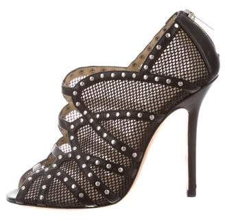 Jimmy Choo Studded Peep-Toe Pumps
