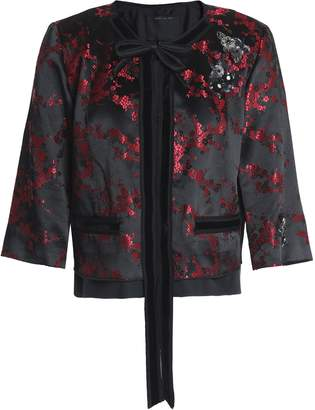 Marc Jacobs (マーク ジェイコブス) - マーク ジェイコブス 装飾付き フローラルジャカード サテン ジャケット