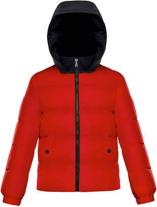 Moncler Arthon Two-Tone Hooded Jacket, Size 4-6