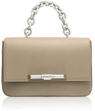 Amanda Wakeley Redford Linen Beige Leather Shoulder Bag
