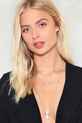 Nasty Gal Three's a Charm Layered Necklace