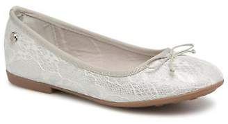 Xti Kids's Rounded toe Ballet Pumps in Silver - Canvas - UK 10 Infant / EU 28