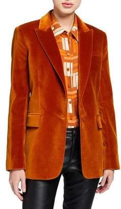 Equipment Jacque One-Button Velour Jacket