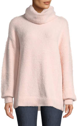 Tularosa Webster Turtleneck Fuzzy-Knit Pullover Sweater