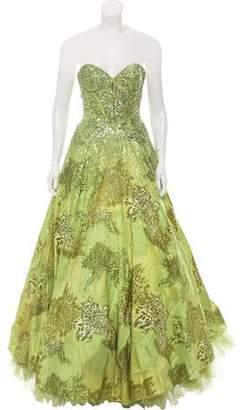 Jovani Strapless Sequin Gown