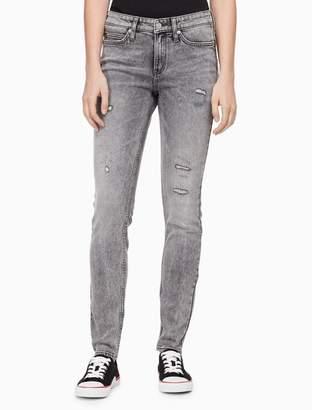 Calvin Klein super skinny bona distressed jeans