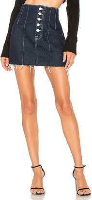 GRLFRND Twiggy Super High-Rise Mini Skirt.