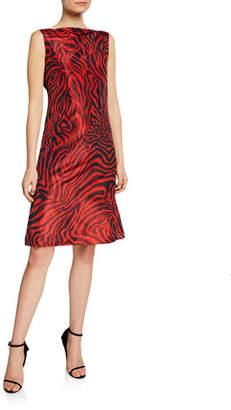 ed6c48900a41d Calvin Klein Animal-Print Sleeveless V-Back Dress
