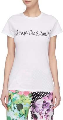 Richard Quinn 'God Save The Quinn' slogan print T-shirt