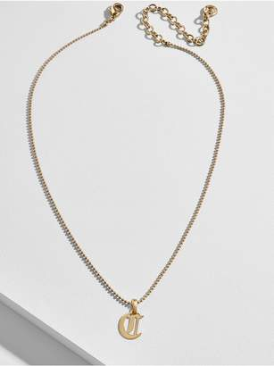BaubleBar Roxana Initial Charm Necklace