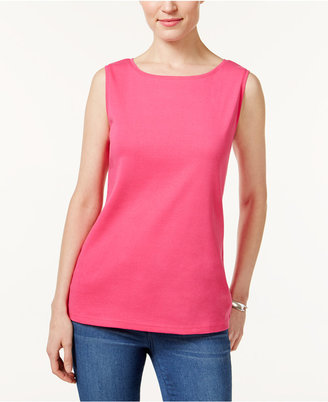 Karen Scott Boat-Neck Tank Top, Only at Macy's $9.98 thestylecure.com