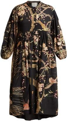DAY Birger et Mikkelsen BY WALID Chantal cherry blossom-print silk dress