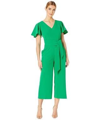 bebfa902c89 Tahari ASL Short Sleeve Wrap Front Crepe Jumpsuit