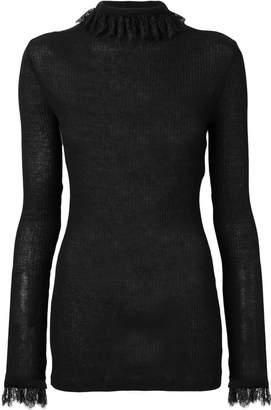 Philosophy di Lorenzo Serafini lace cuff jumper