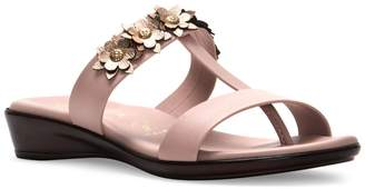 Italian Shoemakers Floral Thong Sandals