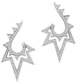 Stephen Webster Lady Stardust 18K White Gold & Diamond Earrings