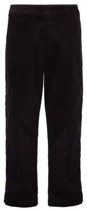 SASQUATCHfabrix. Side Stripe Cotton Blend Corduroy Trousers - Mens - Black