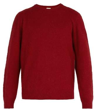 Massimo Alba Brushed Camel Hair Sweater - Mens - Red