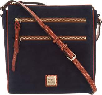 Dooney & Bourke Suede Large Peyton Triple Zip Crossbody