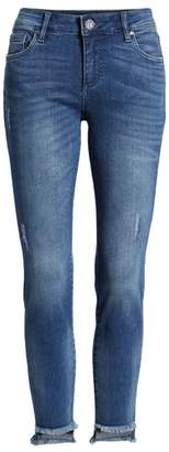KUT from the Kloth SWAT FAME Connie Step Hem Ankle Skinny Jeans
