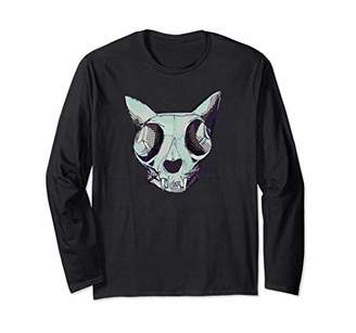 Celebrate 365 Halloween Cat Skull Long Sleeve T-shirt