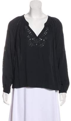 Ulla Johnson Embroidered High-Low Blouse