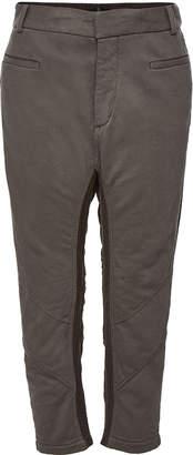 Haider Ackermann Cotton Two-Tone Cropped Trousers