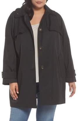 London Fog Removable Hood Rain Jacket