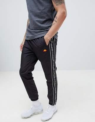 Ellesse Bandino Sweatpants With Logo Stripe Panel In Black