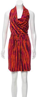 Max Mara Gathered Striped Dress
