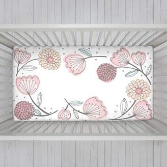 NoJo Engineered Floral Fitted Crib Sheet