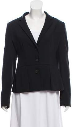 Prada Woven Three-Button Blazer