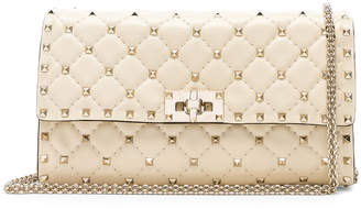 Valentino Rockstud Spike Clutch in Light Ivory | FWRD