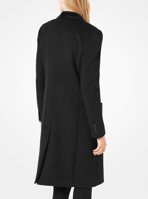 MICHAEL Michael Kors Sequined-Collar Double-Breasted Wool Coat
