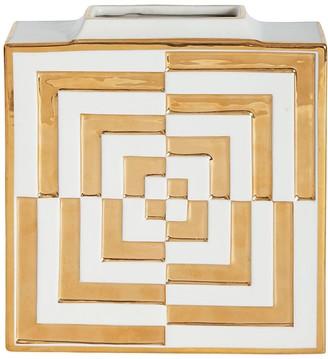 Jonathan Adler Futura Op Art Porcelain Square Vase