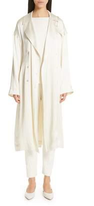 Mansur Gavriel Silk Satin Trench Coat