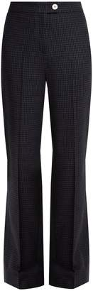 ALEXACHUNG Hound's-tooth checked wool-blend trousers
