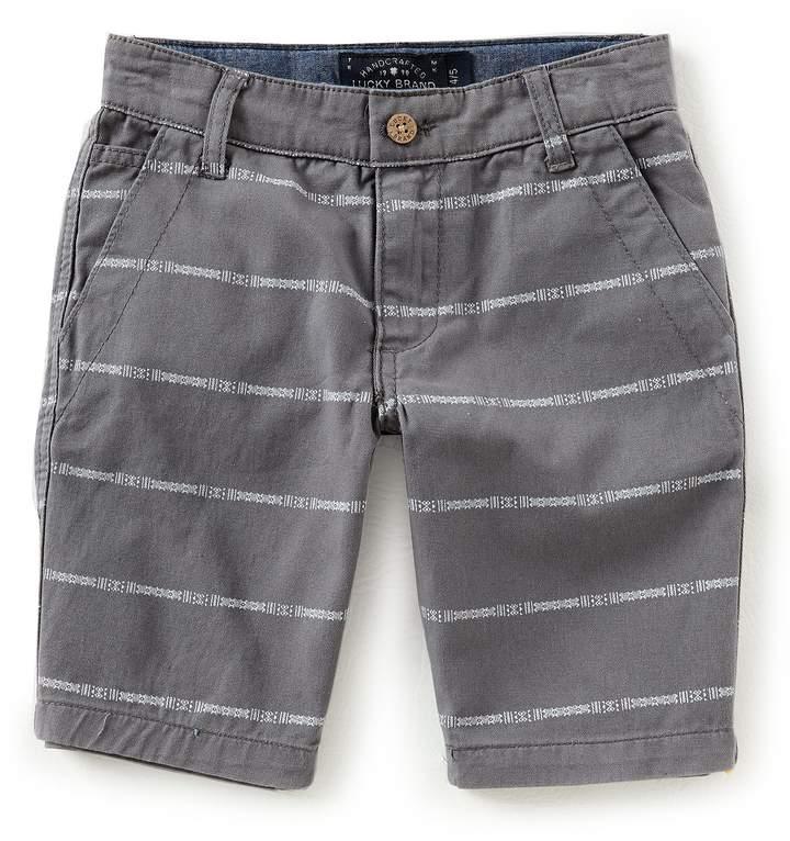 Little Boys 2T-7 Mini-Stripe Twill Shorts