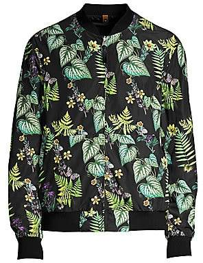 Mackage Men's Dimos Reversible Floral Bomber Jacket