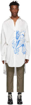 BED J.W. FORD White Long Shirt