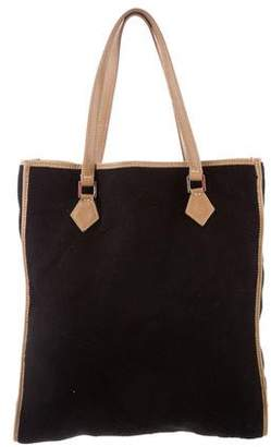 Valentino Leather-Trimmed Felt Tote