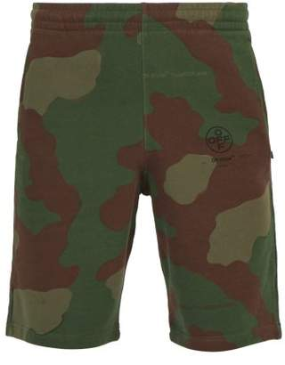 Off-White Off White Stencil Camouflage Print Cotton Shorts - Mens - Camouflage